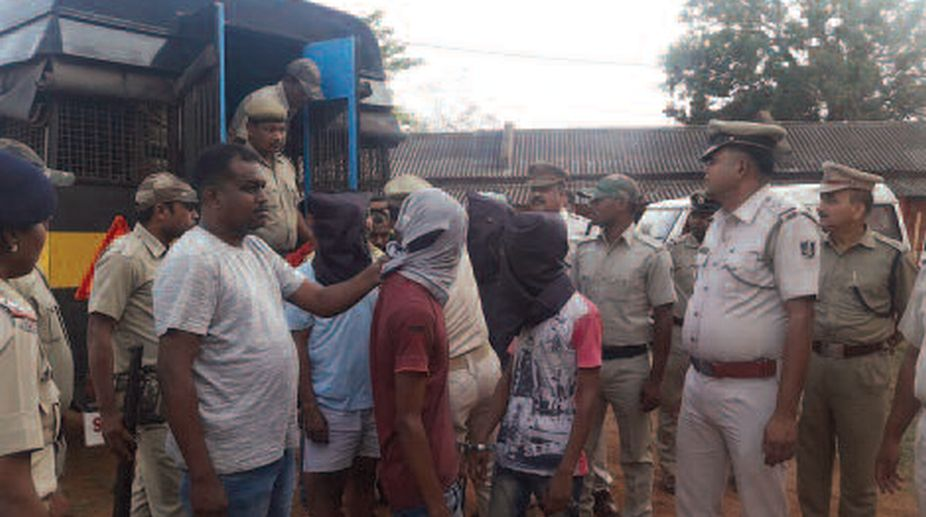 Arrested accused persons of the sensational murder case in Dhenkanal. (Photo: SNS)