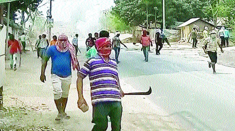 Violence at Mohammad Bazar in Birbhum. (Photo: SNS)