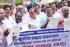 Mahanadi Bachao Andolan stages protests against delay in tribunal