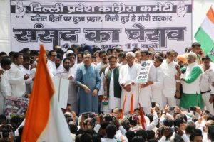 In pics: Congress showdown in support of Dalits' rights