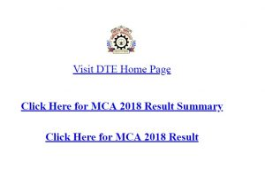 MCA CET 2018 results available online at dtemaharashtra.gov.in | Check results/scorecard now
