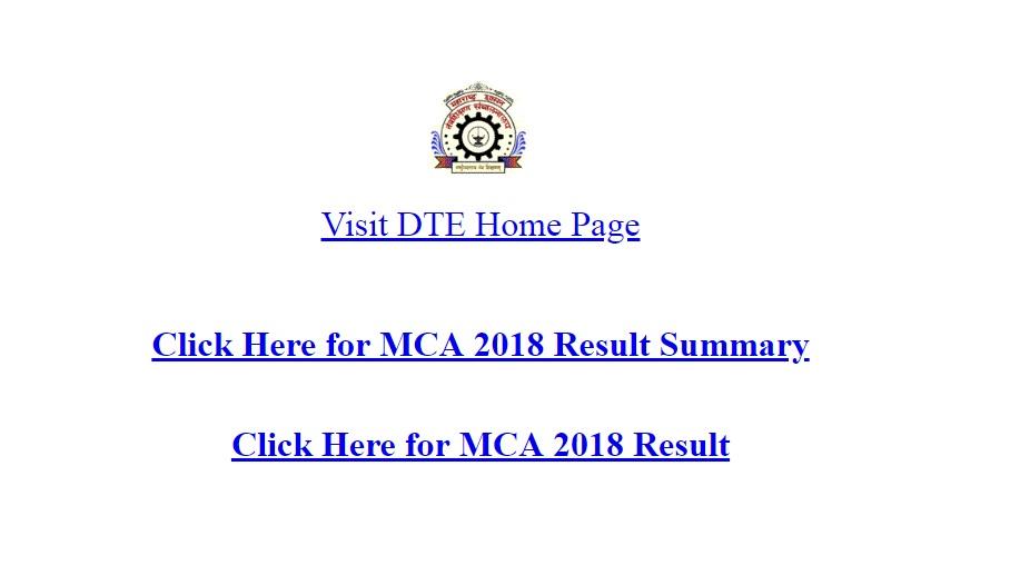 MCA CET 2018 results, dtemaharashtra.gov.in, results, scorecard
