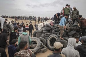 Gaza death toll 22 ahead of demonstrations