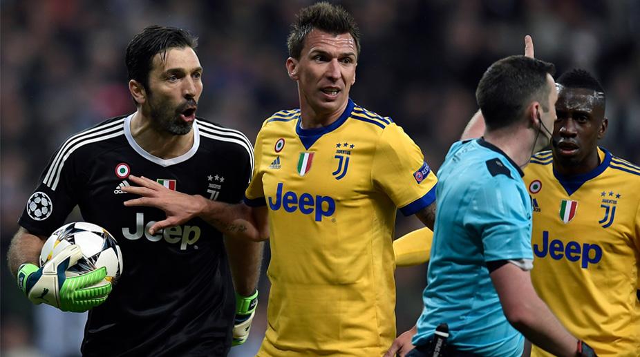 Juventus, Gianluigi Buffon, Mario Mandzukic, Michael Oliver, UEFA Champions League, Real Madrid C.F., Real Madrid vs Juventus, Zinedine Zidane