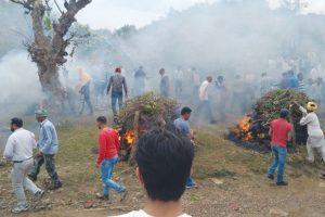 Heart rending scenes as school children cremated