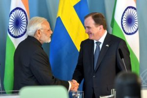 Swedish PM calls India a 'global power'