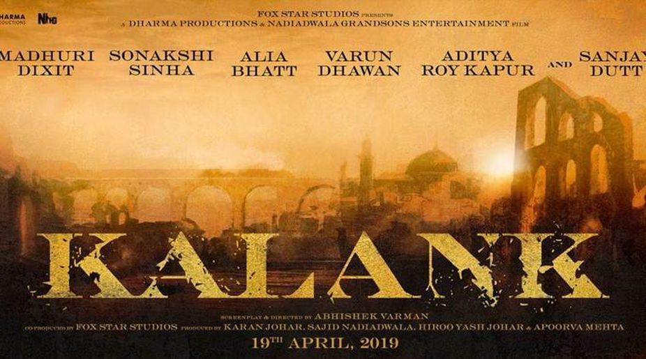 Karan Johar, Kalank, Sanjay Dutt, Madhuri Dixit, Varun Dhawan, Alia Bhatt, Sonakshi Sinha, Aditya Roy Kapur