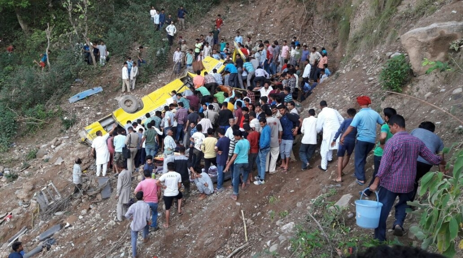 Himachal school bus accident, school bus accident, school children Cremation, Students Cremation, Himachal accident, Nurpur school bus accident