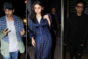 SRK, Karan Johar, Ranbir Kapoor, Alia Bhatt catch up at Zoya Akhtar's house | See pictures