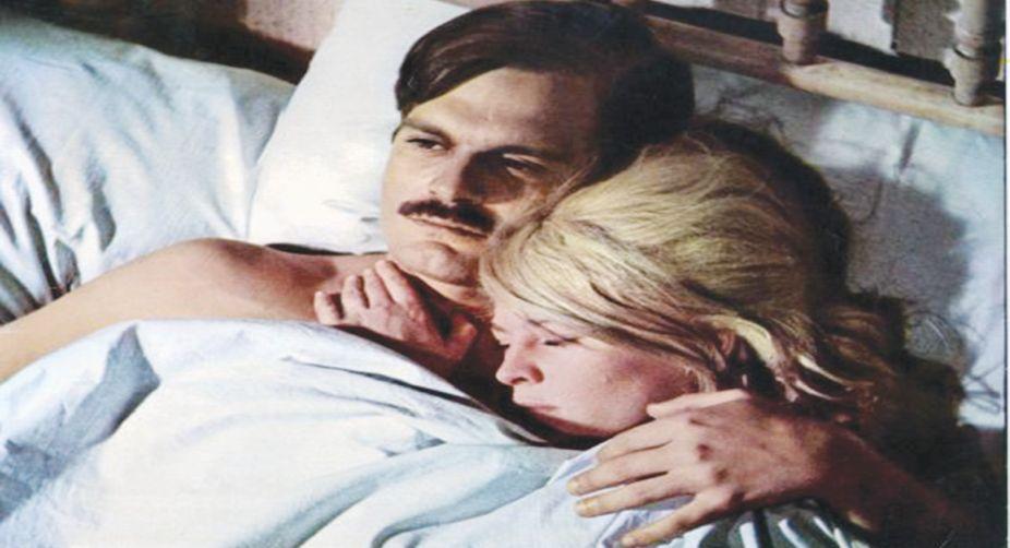 Yuri and Lara share an intimate moment