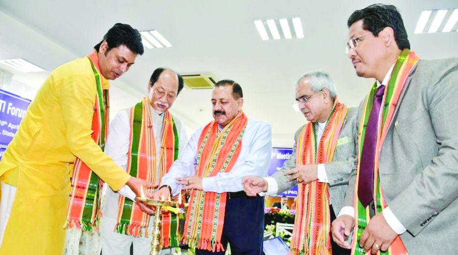 Northeast, Northeast CMs, Biplab Kumar Deb, NITI Aayog, Jitendra Singh, Northeast infrastructure, Northeast development