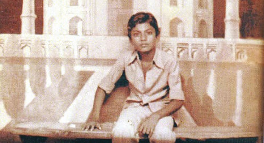 The actor as a young boy
