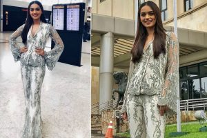 Manushi Chhillar weaving magic in pantsuit look!