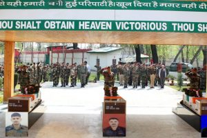 Tributes paid to martyred Army soldiers in Srinagar