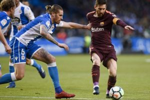 Messi strikes thrice as Barcelona defeat Deportivo 4-2 for La Liga championship