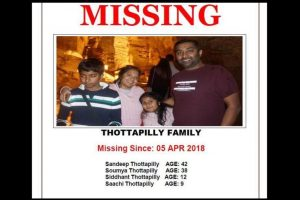 US: Bodies of all missing Thottapilly family members found