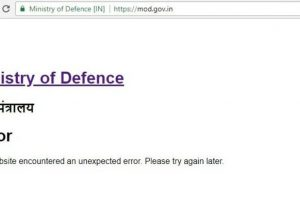 Defence Ministry website 'hacked'