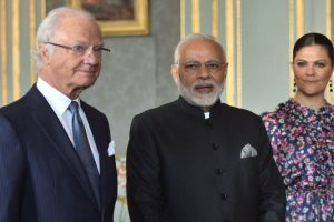 PM Narendra Modi meets King of Sweden Carl XVI Gustaf