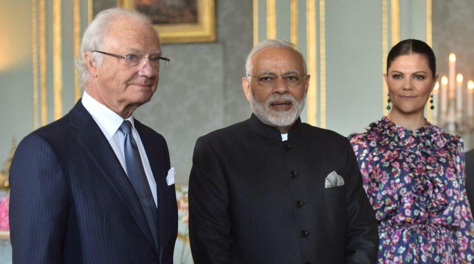 Narendra Modi, Sweden king, Carl XVI Gustaf, Royal Palace