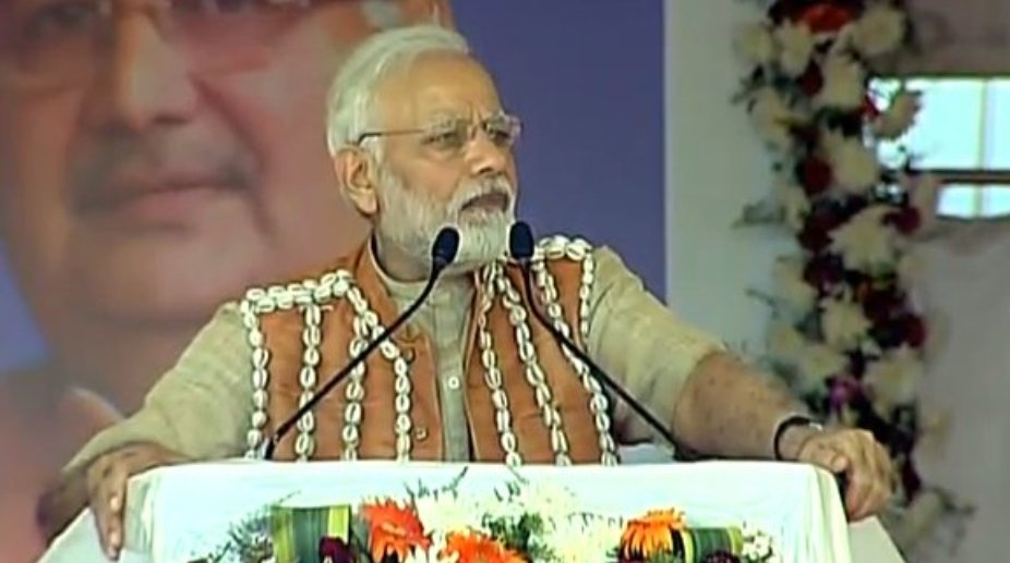 PM Modi lauds Ambedkar, launches Ayushman Bharat at Bijapur