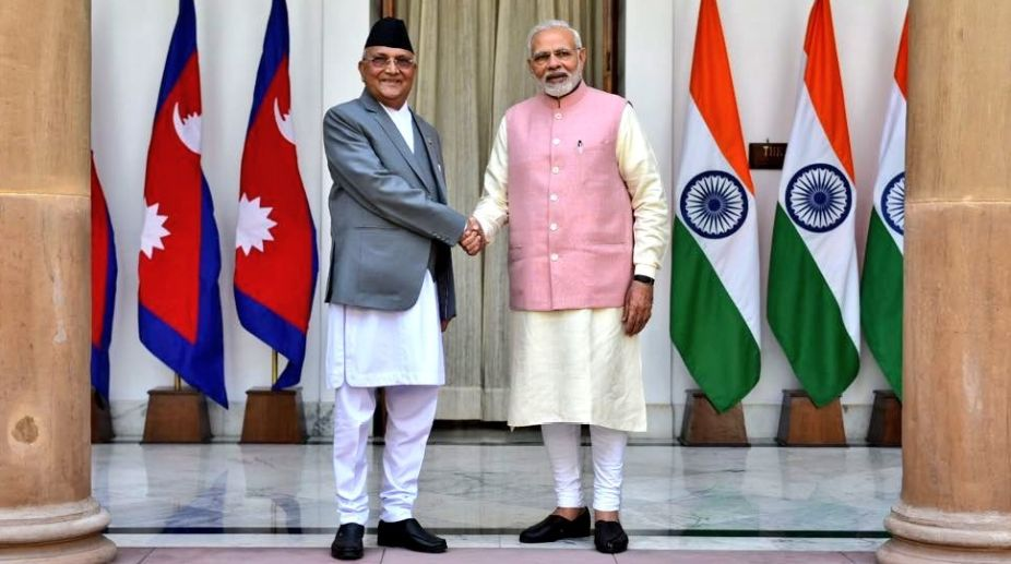 PM Oli, Indian PM Modi hold meeting