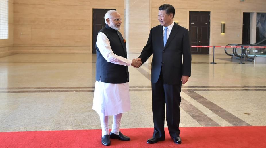 Modi in Wuhan China