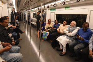 PM Modi takes metro to attend Ambedkar's birth anniversary event