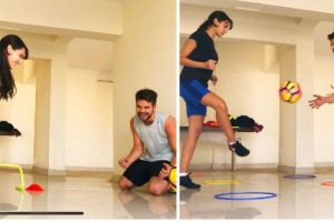 After belly dancing, Nora Fatehi bends it like Govi Tyler for football training