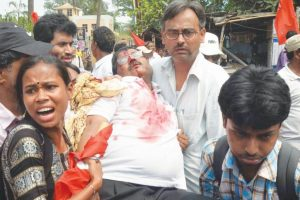 CPM leaders assaulted by masked goons