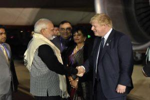PM Modi arrives in UK for bilateral meetings, CHOGM