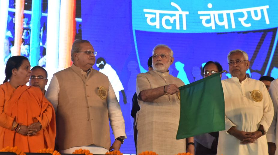 PM Narendra Modi to address Swachhagrahis in Champaran on Tuesday