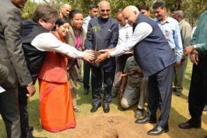 President Ram Nath Kovind plants Baobab sapling