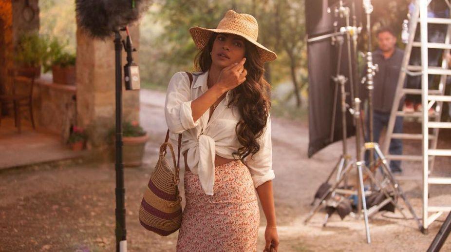 Priyanka Chopra with Johanna Braddy clicked on the sets of Quantico