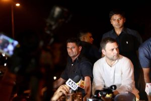 Rahul Gandhi leads midnight candlelight march over Kathua, Unnao rape cases