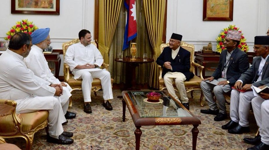 Nepal PM calls on the President Kovind