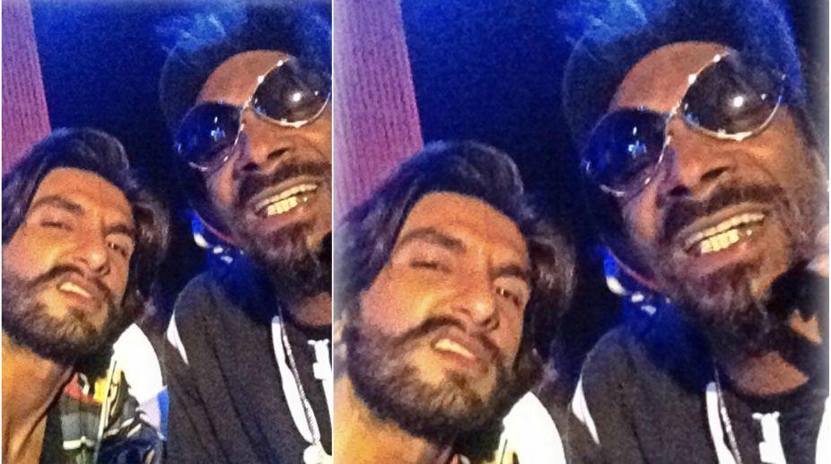 Ranveer Singh poses with Snoop Dogg