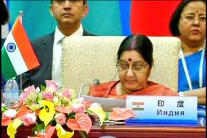 Sushma Swaraj strongly raises issue of terrorism at SCO FMs' meet in China