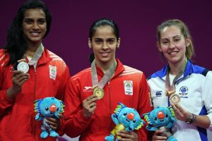 Glimpses of all-Indian women's singles final at CWG 2018