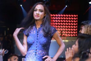 Acid attack survivor Sonia walks ramp for Aditya Khandelwl in Mumbai