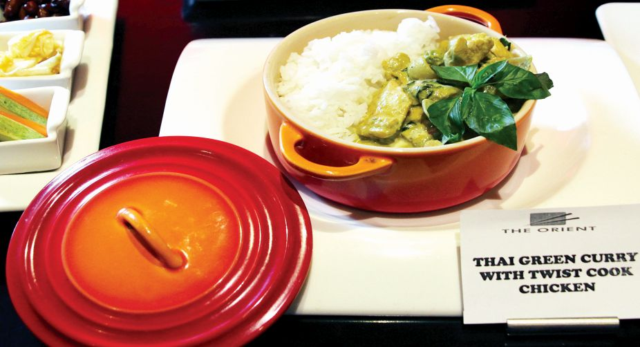 Thai green curry with twist cook chicken