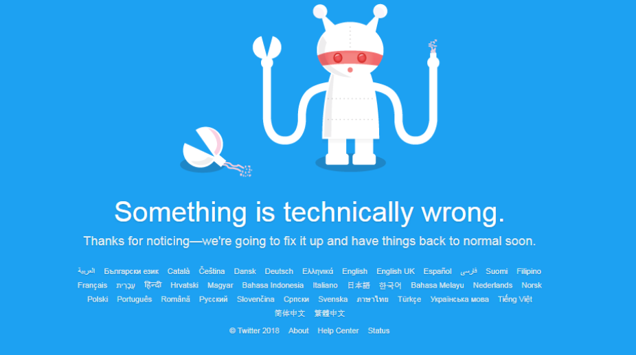 Twitter goes down in many parts of the world