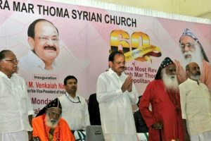 Religious places become dysfunctional if they dabble in politics: Vice-President Naidu