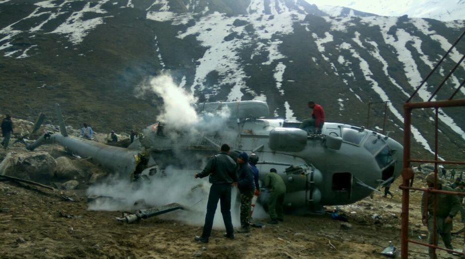 helicopter to kedarnath temple with Iaf Chopper Crashes Near Kedarnath Temple Pilots Occupants Safe 1502616372 on A Model Displays Creation By Gitanjali Gems 328412 further Army Heroes Lead Uttarakhand Rescue Operations 15403 further Badrinath Dham Temple Hd Wallpapers Images Pics Free Download also Uttarakhand Govenment disaster helpline numbers Kedarnath2013 in addition Amarnath Yatra 2017.