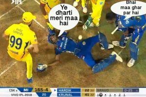 IPL 2018| Bhai, uth jaa.. chali gayi hai woh.. : This photo of  Hardik Pandya proves a meme maker's delight