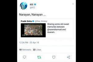 ICC apologises for tweet on PM Modi from official handle, launches inquiry