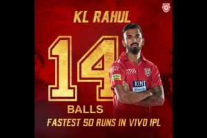 IPL 2018: Kings XI Punjab's KL Rahul scores fastest fifty