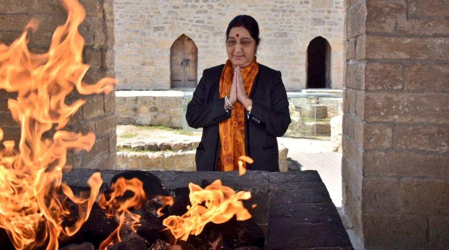 Sushma Swaraj on 3-day visit to Azerbaijan to attend NAM-meet