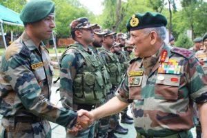 General Bipin Rawat reviews security in Kashmir