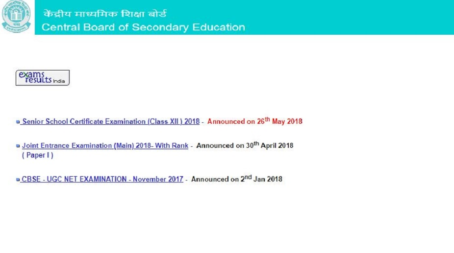 CBSE 12th Results 2018 declared at cbseresults.nic.in, cbse.nic.in | Check results now