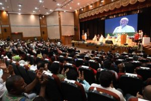 PM Modi apologises for water paucity at Visva Bharati University